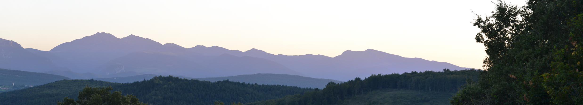 Panorama Pyrénées vu de Camon